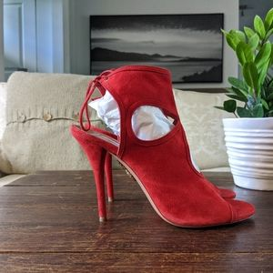 AQUAZZURA Sexy Thing Sandals Heels in Red